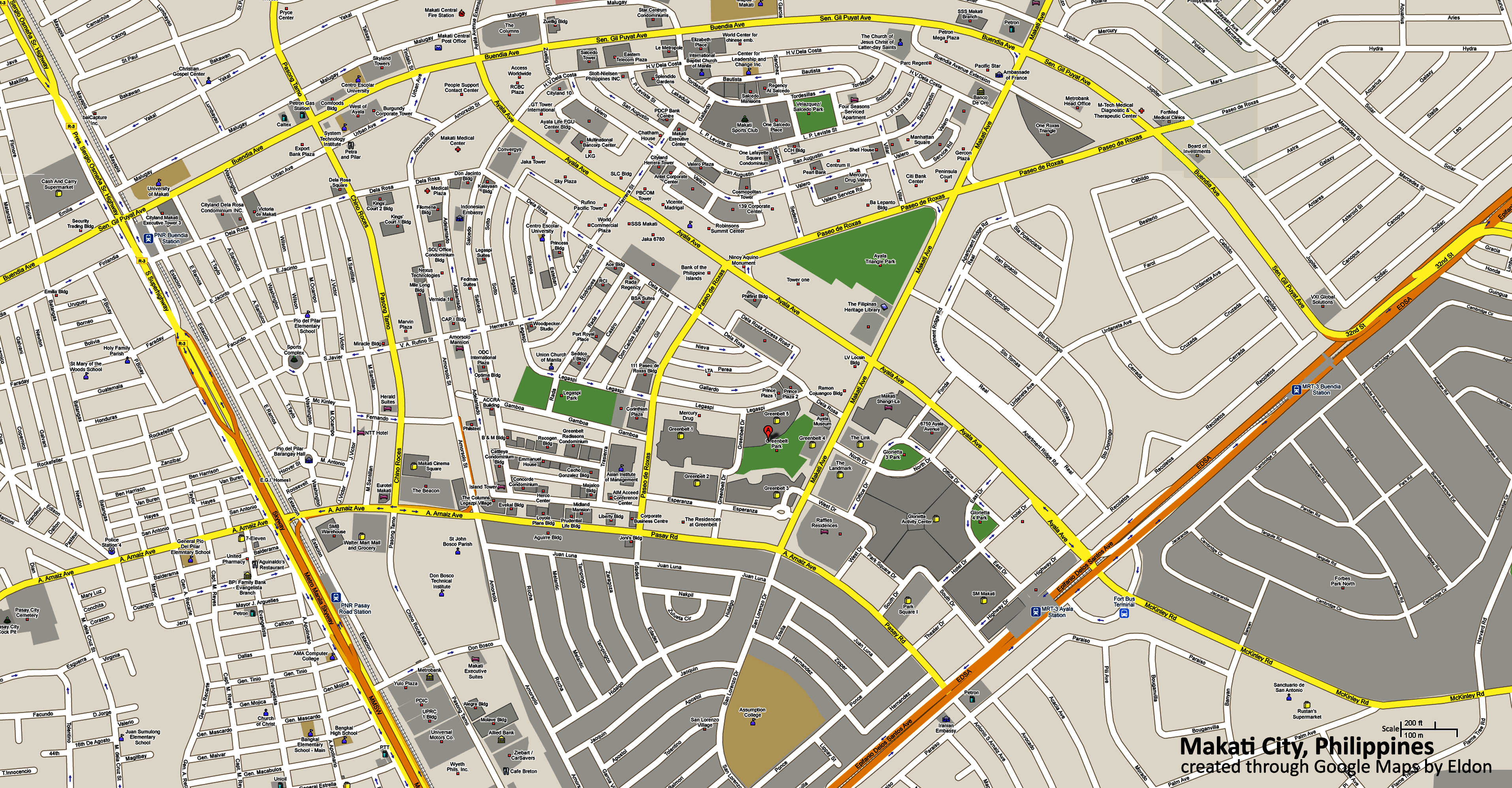Makati Central Business District Map Eldon B Tenorio My Thoughts