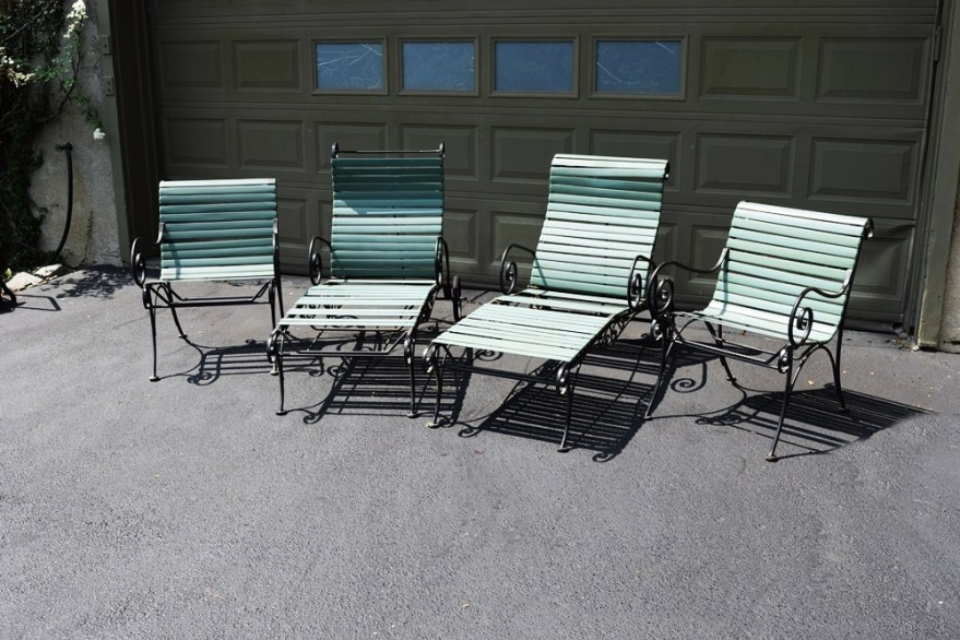 vintage 1950 60 s woodard ionian wrought iron chairs and loungers