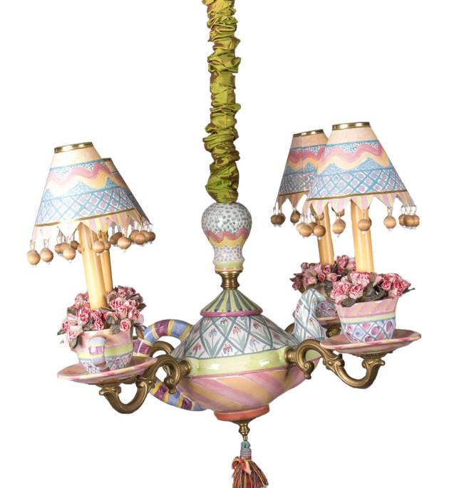 Mackenzie Childs Teapot Chandelier