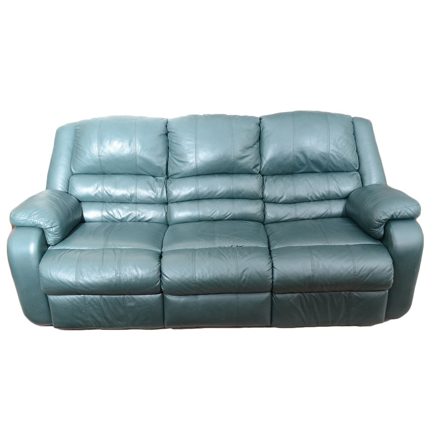 Excellent Sofa Express Hunter Green Leather Reclining Sofa Ebth Gmtry Best Dining Table And Chair Ideas Images Gmtryco