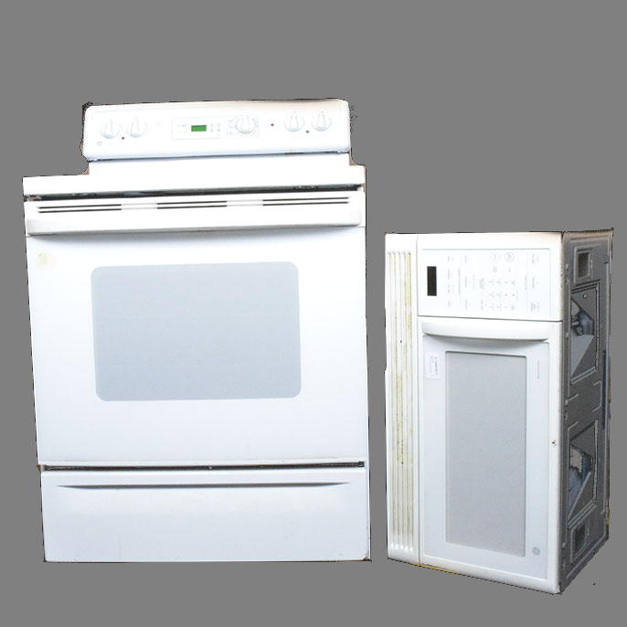 ge spacemaker microwave oven and spectra flat top stove oven combo