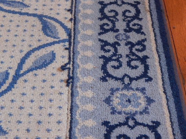 Large Blue And White Area Rug : EBTH