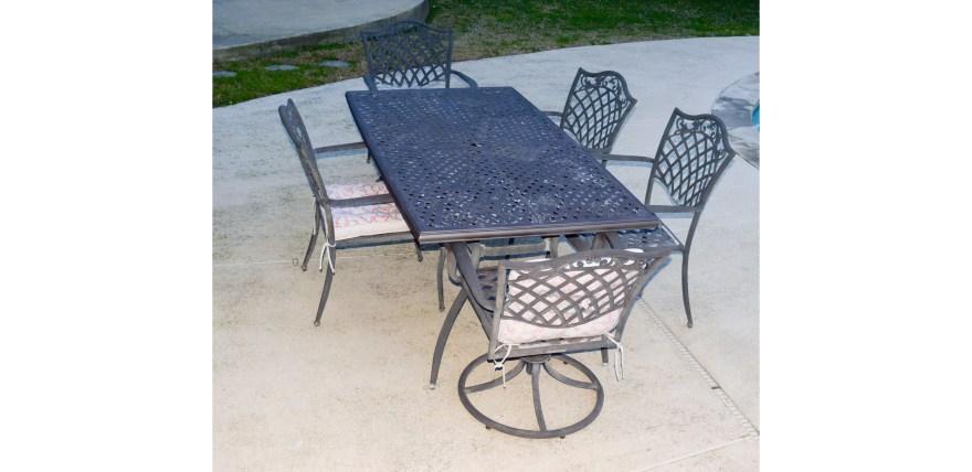garden treasures classics patio table and chair set