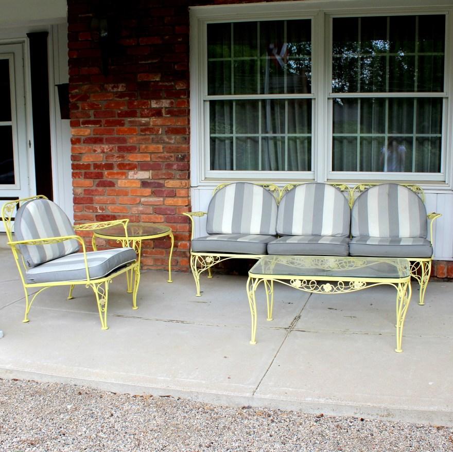 meadowcraft wrought iron patio furniture