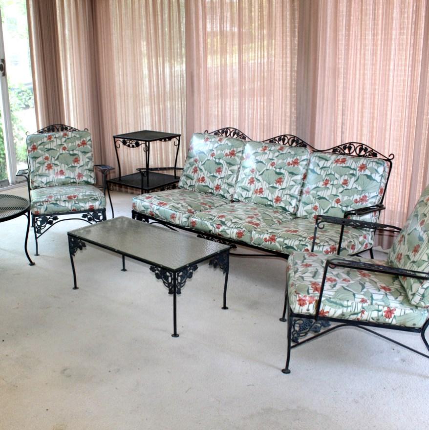 vintage woodard wrought iron patio furniture