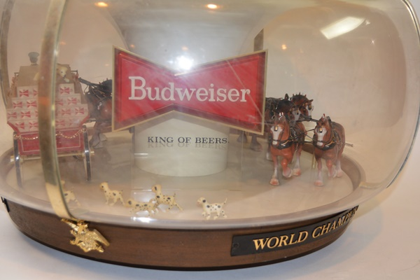 Light Budweiser Clydesdale Rotating Globe