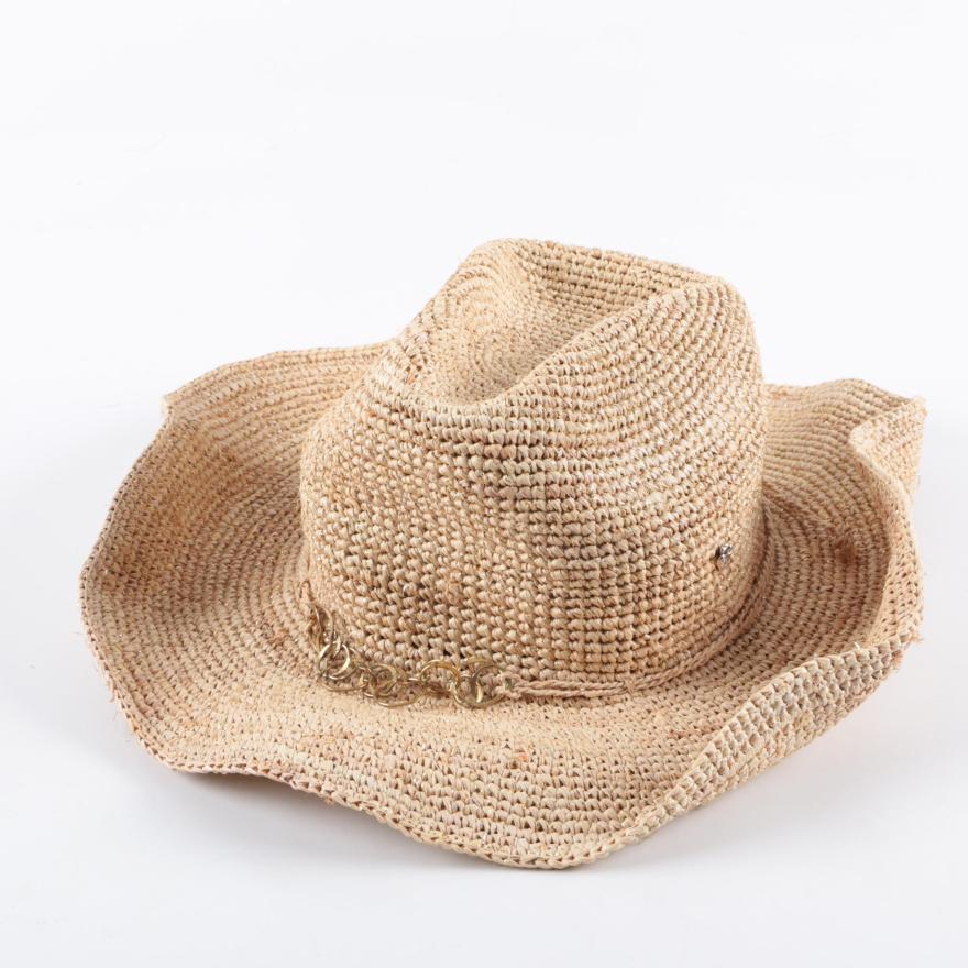 41a7aba56d28b Flora Bella Natural Straw Hat   Ebth