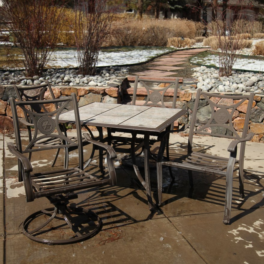 garden treasures classics patio table and chairs