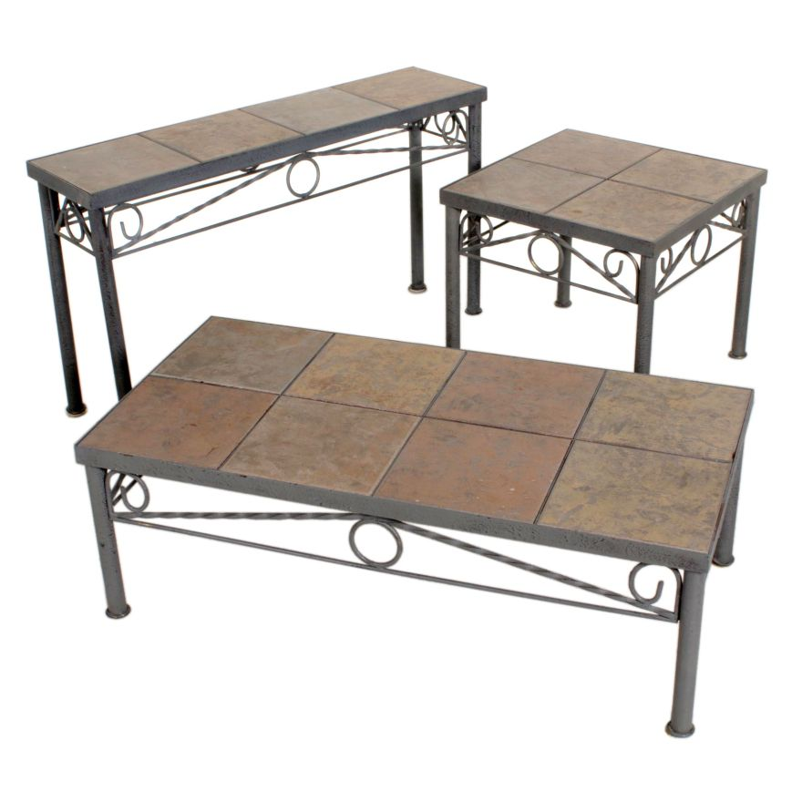 ceramic tile top coffee table console table and side table