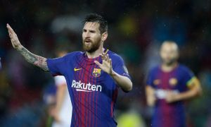 Messi Scored His 100Th Goal Against Olympiakos