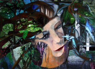 Symbiont Frances Yew acrylic and oil on canvas 75 cm x 55 cm