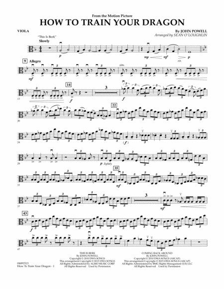 How to train your dragon piano sheet music how to how to train your dragon viola sheet music by john ccuart Gallery