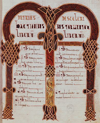 Illuminated Manuscript Page from the Codex Euricianus