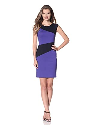 Muse Women's Colorblock Ponte Sheath (Violet Blue)