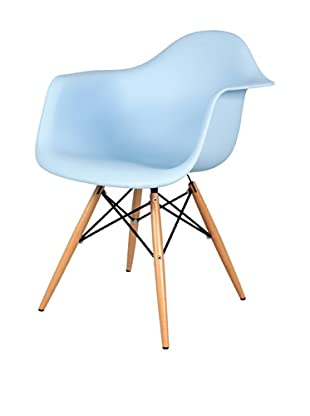 Control Brand Mid-Century-Inspired X-Leg Arm Chair (Blue)