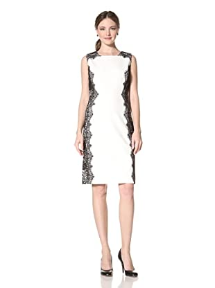 Chetta B Women's Sheath Dress with Lace (Ivory)
