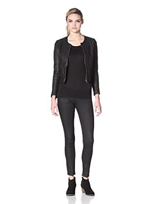 Hare + Hart Davis Leather Jacket (Black)