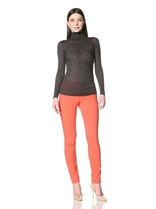 Derek Lam Women's Zip Detail Turtleneck (Grey)