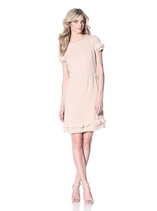 RED Valentino Women's Dress with Ruffle Trim (Pink)