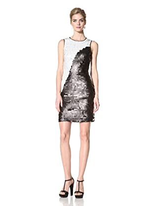 Marc New York Women's Colorblock Paillette Dress (Black/White)