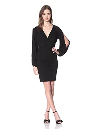 Nicole Miller Women's Split Sleeve Dress (Black)