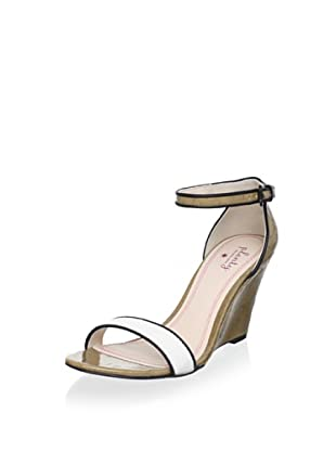 Plenty by Tracy Reese Women's Wallis Wedge Sandal (White)