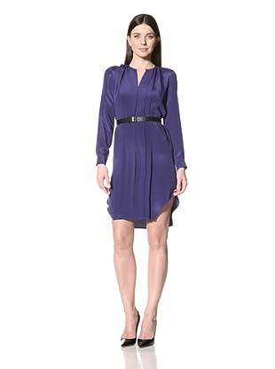 Derek Lam Women's Longsleeve Belted Dress (Violet)