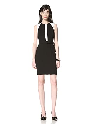 Eva Franco Women's Bambino Sleeveless Colorblock Dress (Black/White)