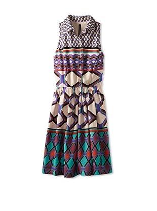 W118 by Walter Baker Women's Joey Print Dress (Aztec Diamond)