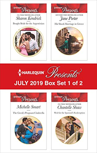 Harlequin Presents - July 2019 - Box Set 1 of 2  Sharon Kendrick, Michelle Smart, Jane Porter, Chantelle Shaw