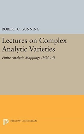 Lectures on Complex Analytic Varieties: Finite Analytic Mappings