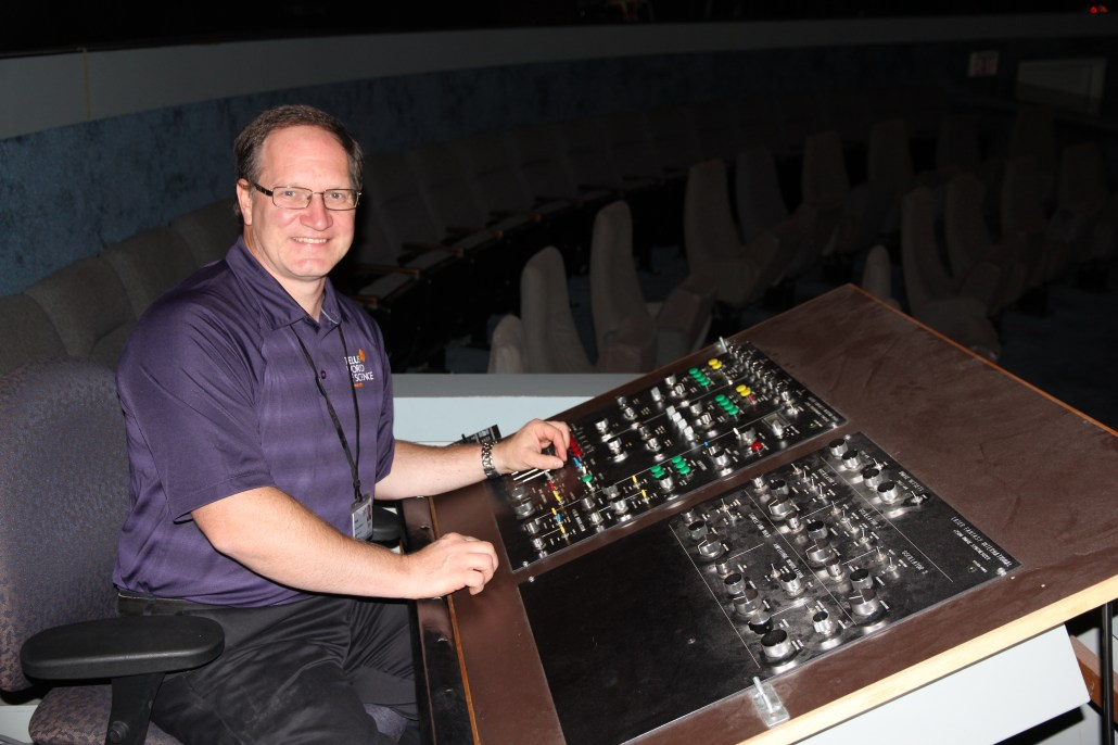 Frank Florian at the current laser console.
