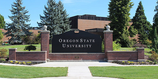 Entrance sign at Oregon State University