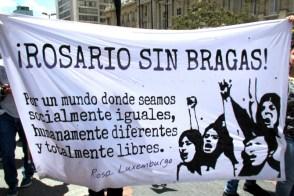 Estudiantes de la Universidad del Rosario. Para algunos de ellos era su primera protesta.