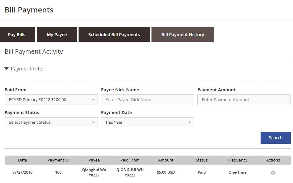 6.5 帳單支付——查看賬單支付紀錄