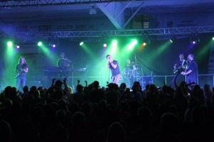 Canadian country band, Emerson Drive, played to a crowd of adoring fans June 29 at the Delburne Agriplex to celebrate the Town's centennial.