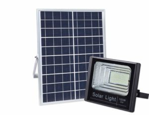 cyberdax solar powered street flood light
