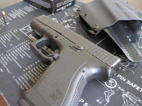 Vickers magazine release and OEM extended slide stop
