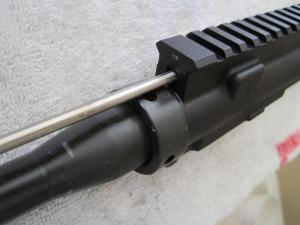 Remove FSP, Gas Tube and Flash Hider and factory barrel nut, replace with Daniel Defense proprietary barrel nut