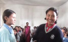Sabina (right) with ECCA counselor Sadiksha