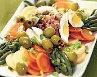 tonno con le patate e fagiolini verdi