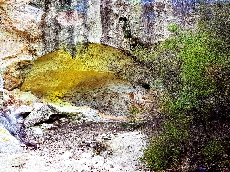 A sulphur cave at wai-o-tapu thermal wonderland