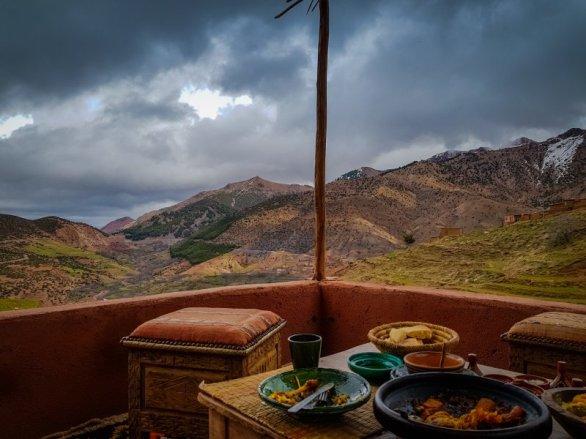 Atlas Mountain view from Lunch - Tagine Marrakech City Break