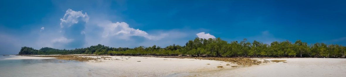 deserted tropical island snorkelling at abang island