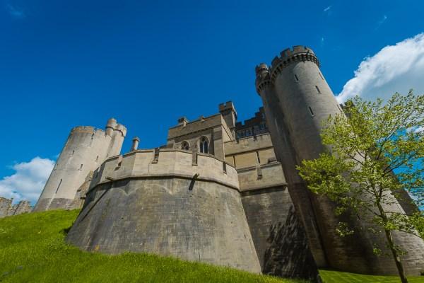 Arundel castle crenelations
