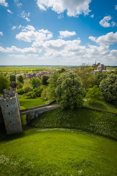 View from Arundel Castle Keep 2