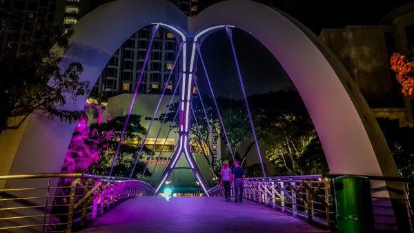 Singapore river bridge