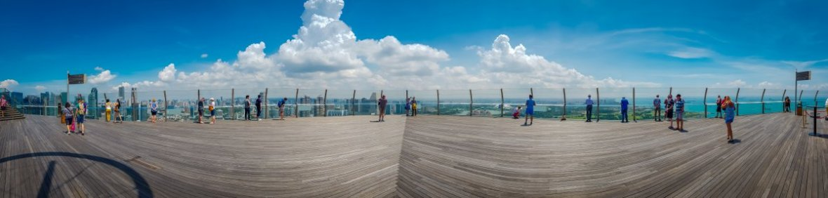 Panorama - Top of Marina Bay Sands Singapore