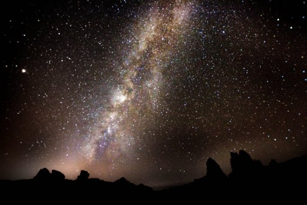 The Milky way over Roques De Garcia