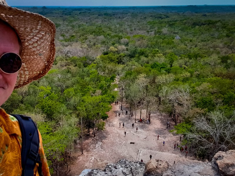 Coba Ruins - Top of the world Ma!